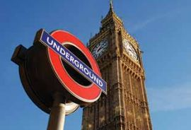 London Big Ben and tube - Westminster's great location