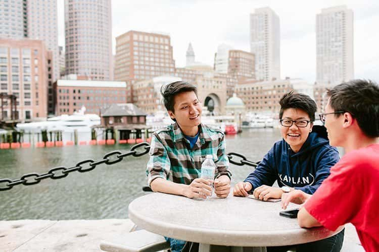 Students from Northeastern University in Boston