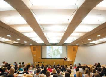 The University of Nottingham lecture hall