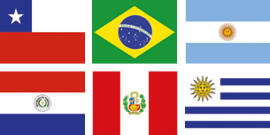 South American flags - kaplan