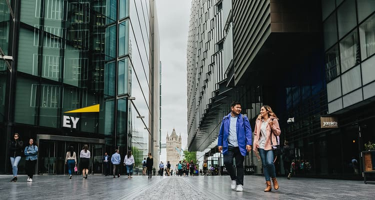 Students in central London