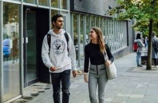 University of Bristol International Foundation Programme students walking on campus