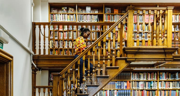 student in British library