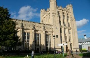 University of Bristol Wills large stone building with turrets