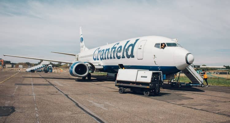 Cranfield University's aeroplane sits on the University's airfield