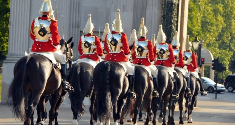 royal guards on horses in London