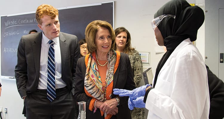 Nancy Pelosi visits Simmons University