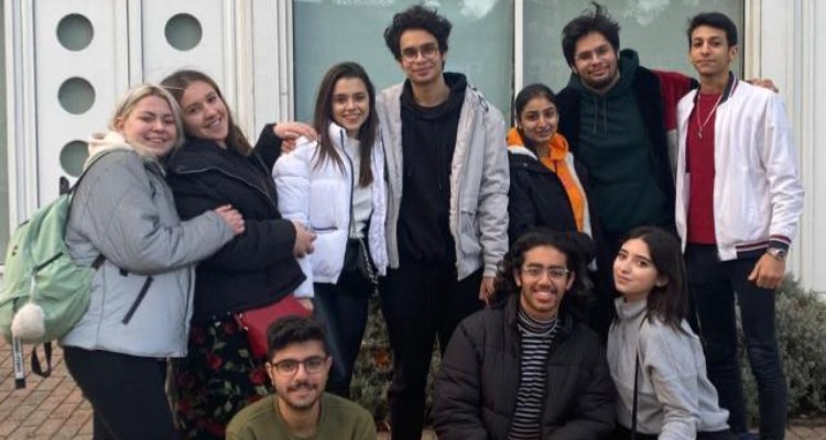 Abdulwahab and his friends from the University of Brighton International College